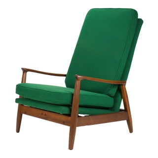 Mid Century Modern Milo Baughman for James Inc Reclining Chair For Sale