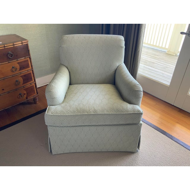 Hickory Colefax Blue Chair For Sale - Image 9 of 9