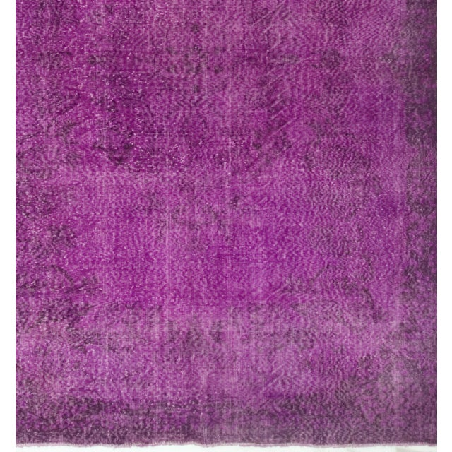 Turkish Vintage Over-Dyed Rug - 6′11″ × 10′4″ - Image 3 of 4