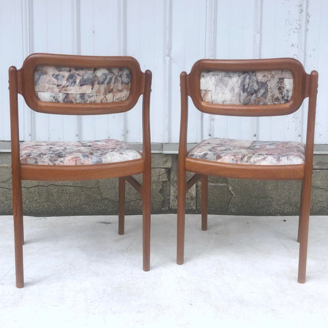 1960s Mid-Century Modern Sculpted Teak Dining Chairs- Set of Four For Sale - Image 5 of 13