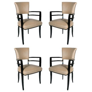 Outstanding Set of 4 Josef Hoffmann Chairs For Sale