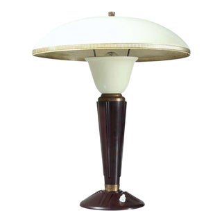 French table lamp with bakelite base, 1950s For Sale