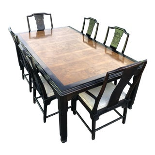 1970s Chin Hua Dining Table & Chairs For Sale