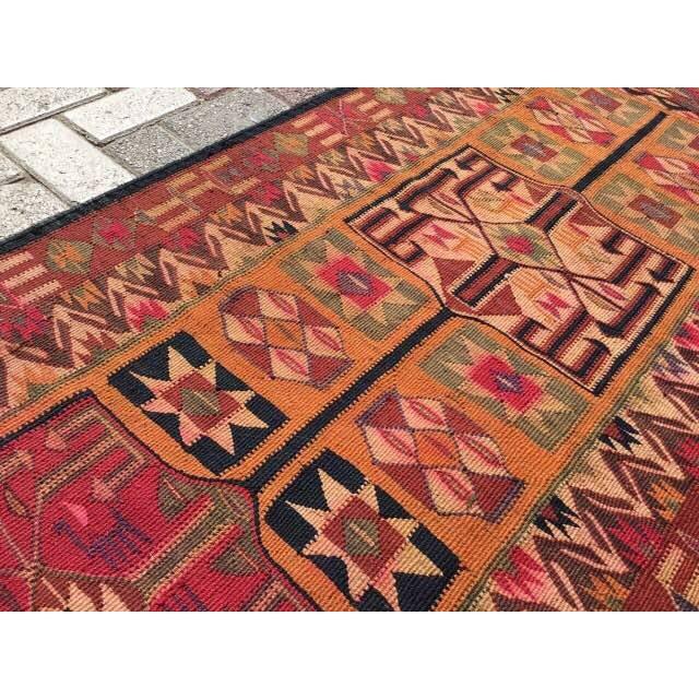 Textile Vintage Turkish Kilim Runner - 2′11″ × 12′4″ For Sale - Image 7 of 8