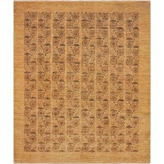 Kafkaz Peshawar Frieda Lt. Tan/Gold Wool Rug - 8'1 X 10'0 For Sale