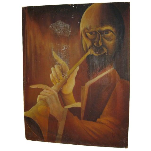 Trumpet Man Painting - Image 1 of 4