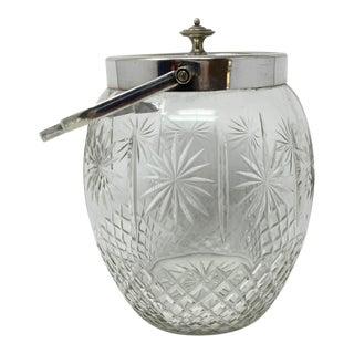 Antique Glass Biscuit Jar For Sale