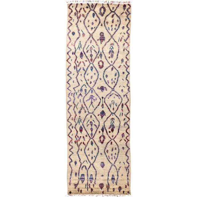 "Tullu Hand Knotted Runner Rug - 4' 3"" X 12' 3"" - Image 4 of 4"