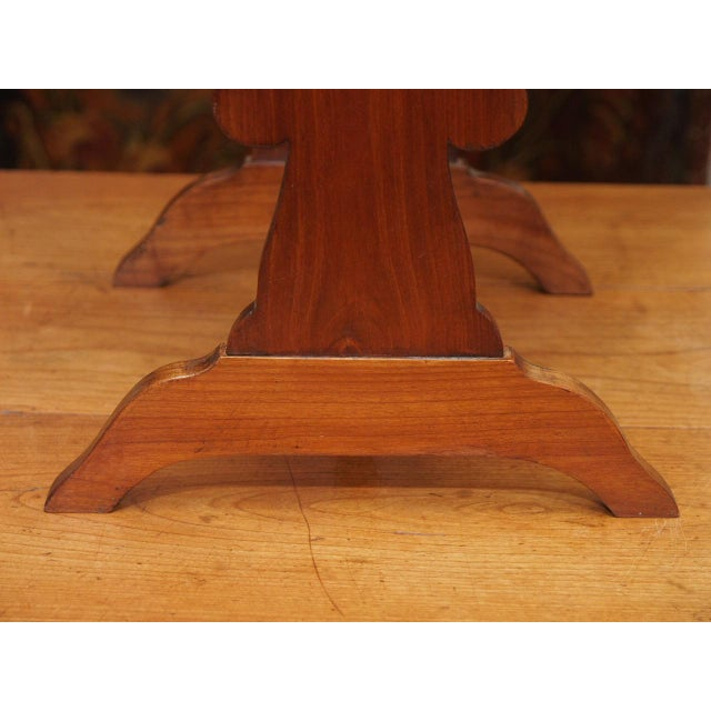 Cherry Wood A 19th c. Restauration Table For Sale - Image 7 of 9