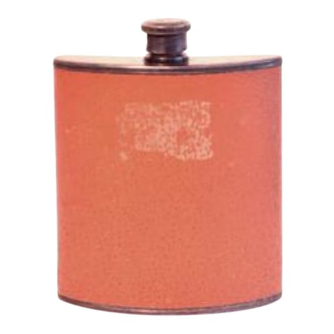 Vintage Leather Covered Flask For Sale