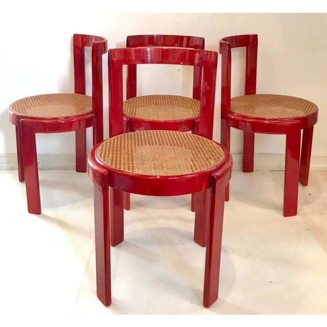 Vintage Italian Dining Chairs in the Manner of Scarpa For Sale - Image 12 of 12