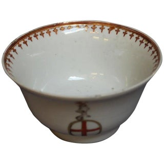 Chinese Export Armorial Bowl For Sale