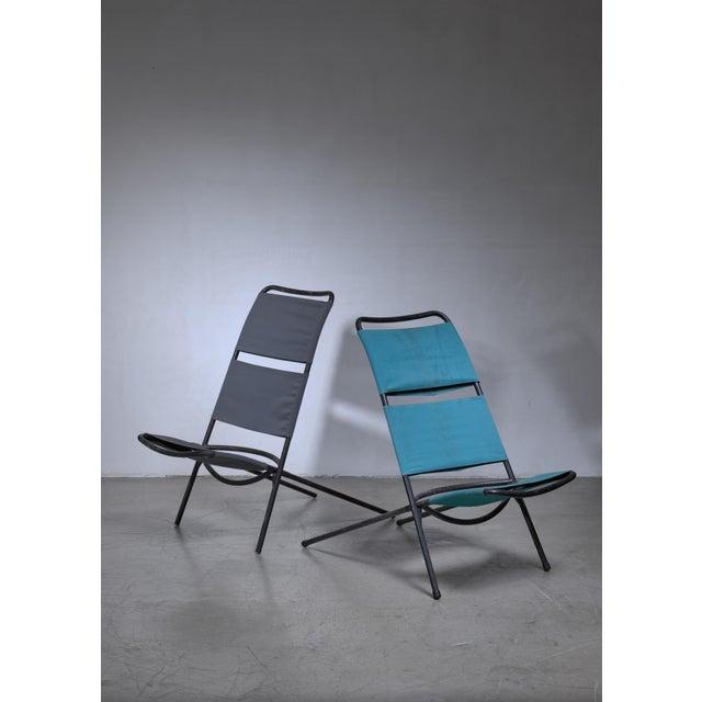 Canvas Pair Ilmari Tapiovaara 'Congo' Chairs For Sale - Image 7 of 7