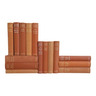 Charles Dickens Toffee-Brown Books - Set of 15