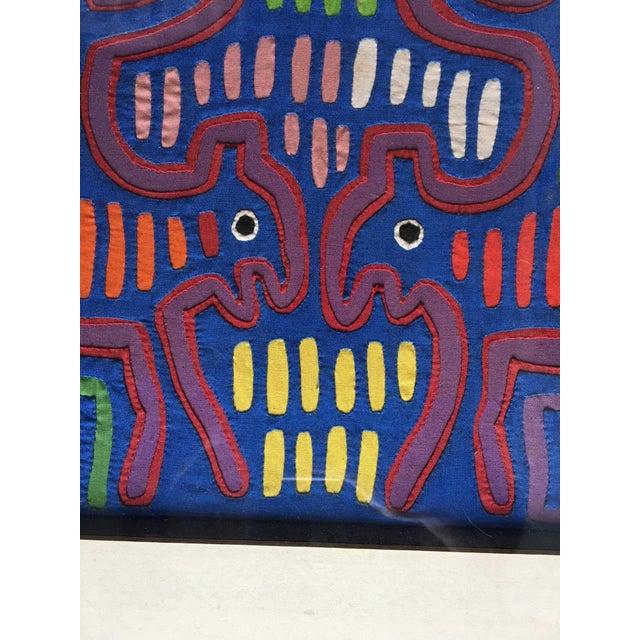 Vintage Indian Mola Framed Textile Art - Image 5 of 10