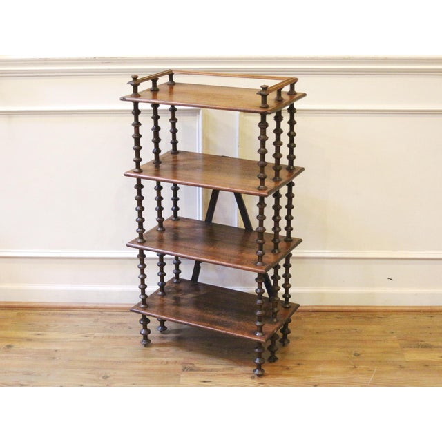 Late 19th Century. Antique Rustic Folk Art Wooden Spool Shelves For Sale - Image 13 of 13