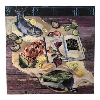 "Rachel Loyacono Original Painting ""Dinner Party"" For Sale"