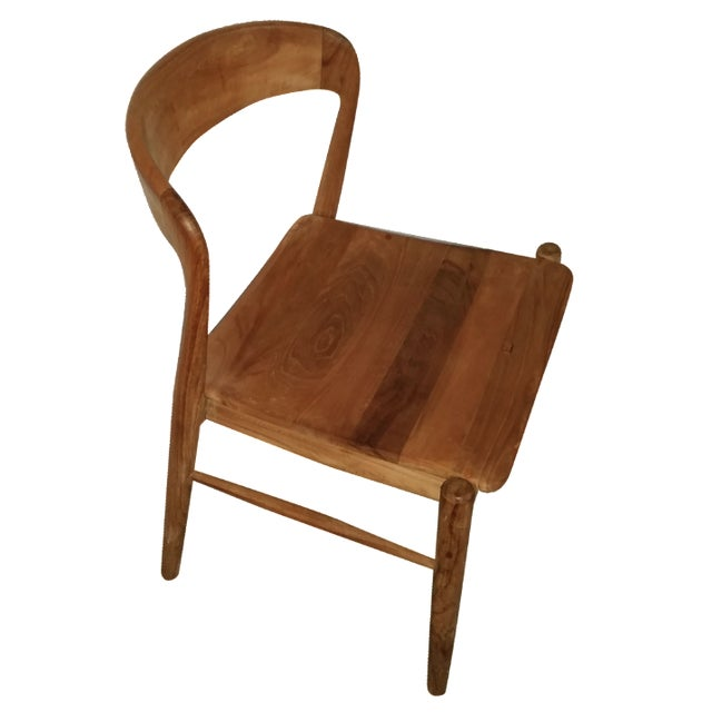 Theodore Mid-Century Modern Teak Side Chair - Image 1 of 4