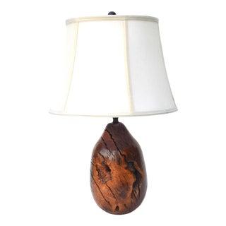 Mid Century Organic Burlwood Lamp For Sale