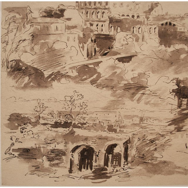 """The Colosseum"" by Jean-Baptiste-Camille Corot, Large Vintage Lithograph For Sale In Dallas - Image 6 of 12"