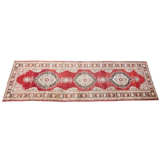 "Vintage Red Oushak Runner- 2'10"" x 9'3"""