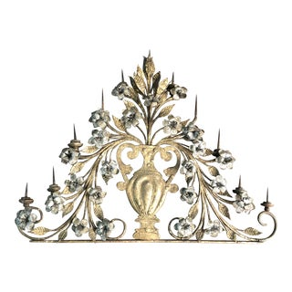 17th Century Italian Silver & Gold Gilt Metal 11 Light Candelabrum For Sale