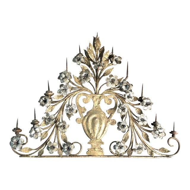 17th Century Italian Silver & Gold Gilt Metal 11 Light Candelabrum For Sale