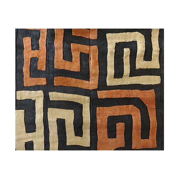 African African Kuba Textile Raffia Wall Hanging For Sale - Image 3 of 9