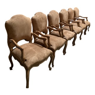 Kreiss Palazzo Arm Chairs - Set of 6 For Sale