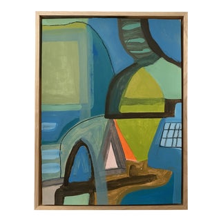 Floater Framed Contemporary Abstract Original Painting For Sale