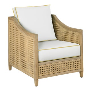 Keys Occasional Arm Chair, White and Sunflower Yellow For Sale