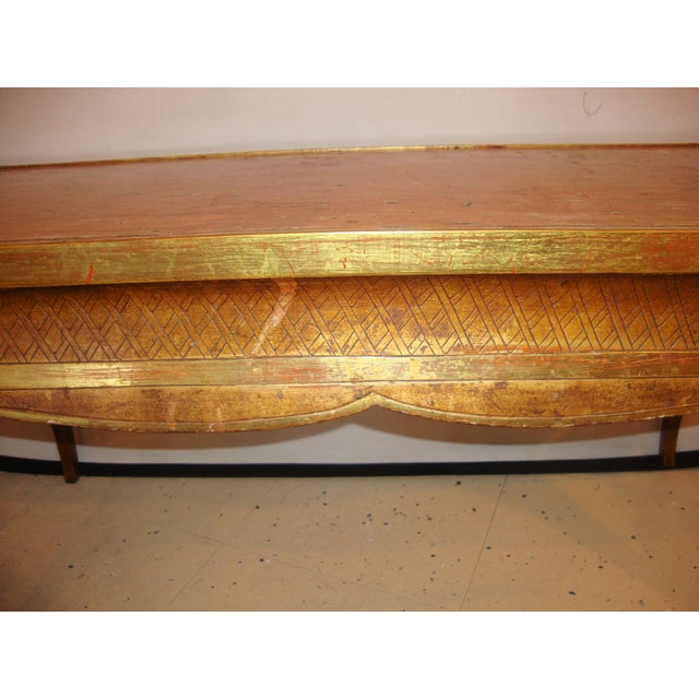 Hollywood Regency Hollywood Regency Style Jansen Gilt Gold Coffee Table For Sale - Image 3 of 6