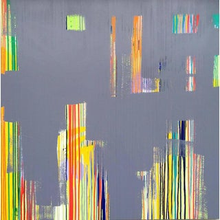 """Contemporary Abstract Oil Painting """"Grayed Out"""" by Mirtha Moreno For Sale"""