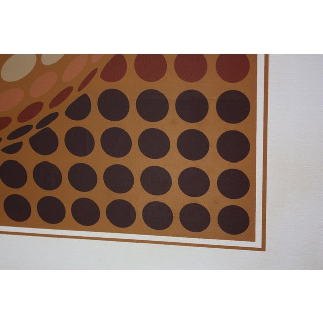 1980s Letterman Oil on Canvas Geometric Op Art For Sale - Image 5 of 8