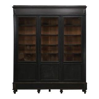 Antique French Original Ebony Bookcase For Sale