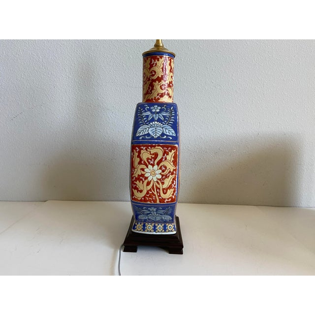 Antique Chinese Dragons Lamp & Shade For Sale - Image 10 of 12