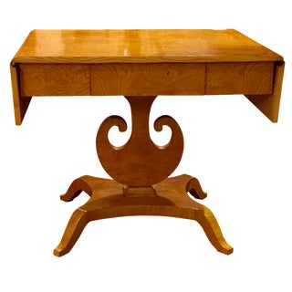 Art Deco Maple Drop-Leaf Table
