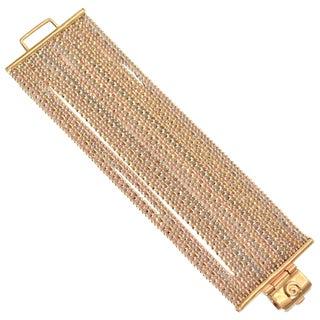 Goossens Paris Gold Multi Chain Bracelet For Sale