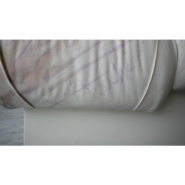 Textile Custom Oversized Post Modern Italian Sofa on Plinth Base For Sale - Image 7 of 9