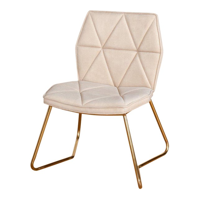 Tally Chrome Side Dining Chair For Sale