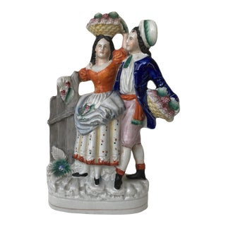 Circa 1850's Antique English Staffordshire Figurine For Sale