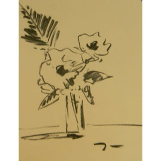Original Charcoal Sketch Poppies Drawing by Jose Trujillo For Sale