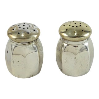 Vintage Sterling Silver Salt & Pepper Shakers - A Pair