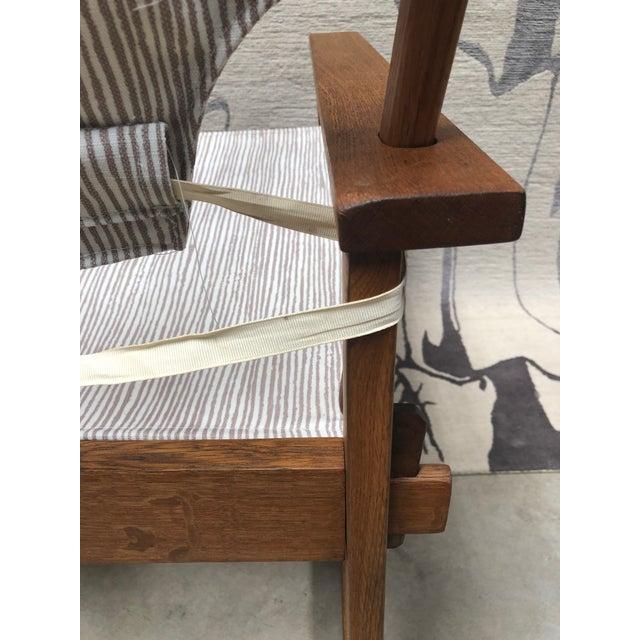 Cream 1950s Danish Modern Poul Hundevad Safari Chair For Sale - Image 8 of 12