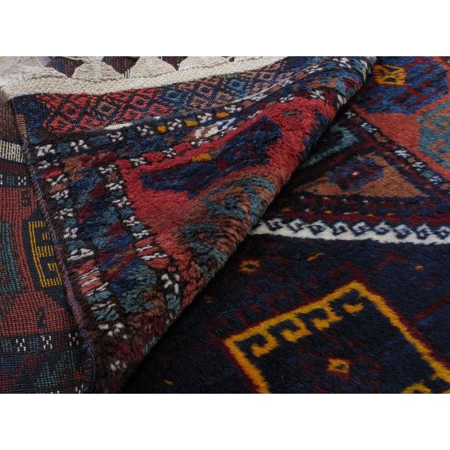 Blue Antique Kurdish Rug For Sale - Image 8 of 10