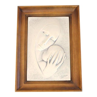 Sterling Silver Mother and Child Minting Plaque