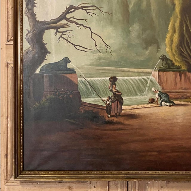 Grand Framed Oil Painting on Canvas by E. Carliez After H. Robert For Sale - Image 10 of 12