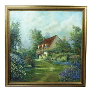 Vintage Mid-Century Dwayne Warwick Original Oil on Canvas Painting For Sale