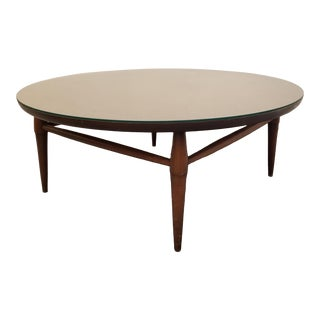 1960s Mid Century Modern Round Coffee Table For Sale