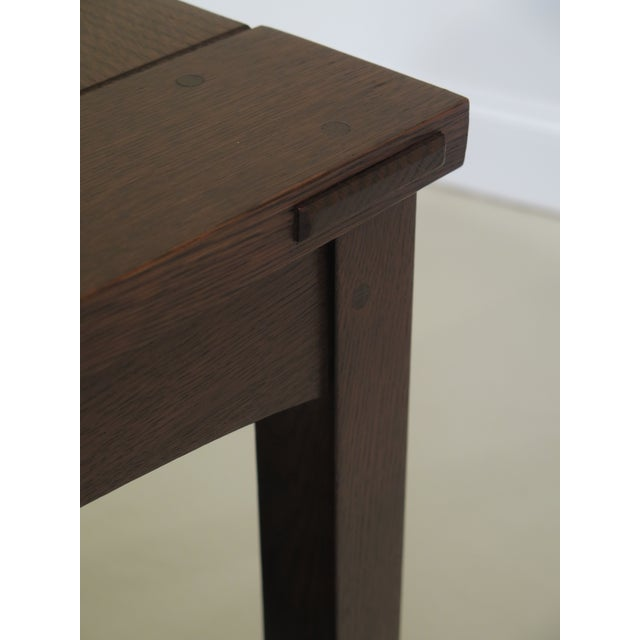 Wood Stickley Mission Oak Arts & Crafts Occasional End Table For Sale - Image 7 of 10